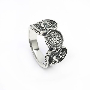 Silver Oxidised Celtic Design Ring