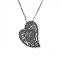 Silver Oxidised Celtic Heart Pendant