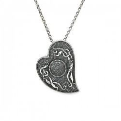 Silver Oxidised Celtic Heart Pendant